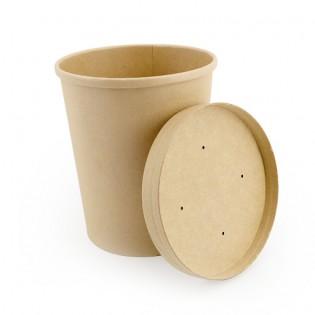 [湯碗] 26oz牛皮紙湯碗及蓋 (原箱500件)