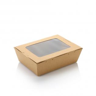 1200ml單窗牛皮紙盒 (原箱200件)