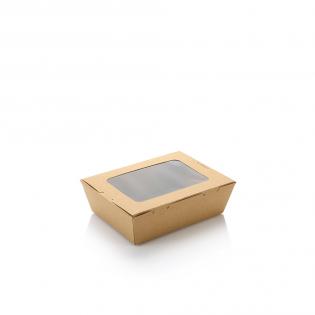 500ml單窗牛皮紙盒 (原箱200件)