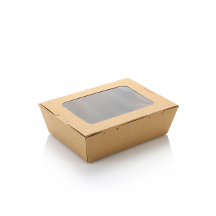 900ml單窗牛皮紙盒 (原箱200件)